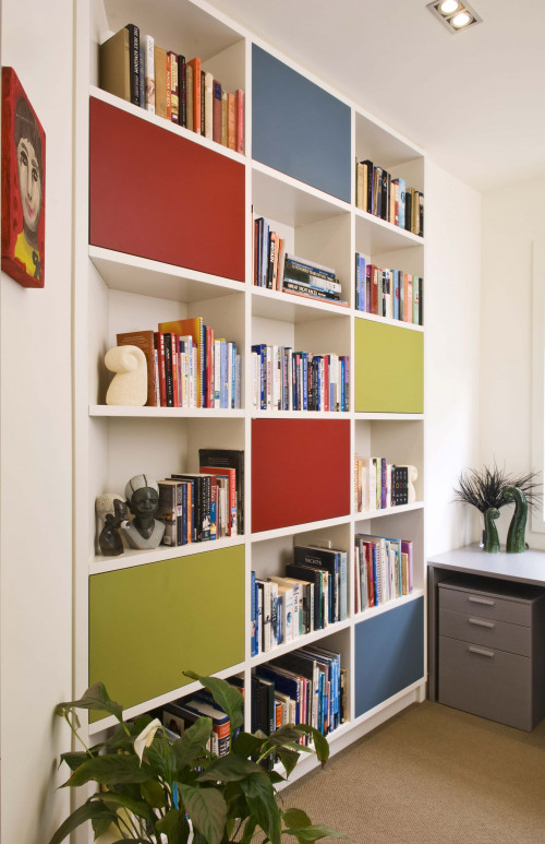 bookcase, bookshelves, cupboards, coloured bookcase, painted cupboards, coloured bookshelves