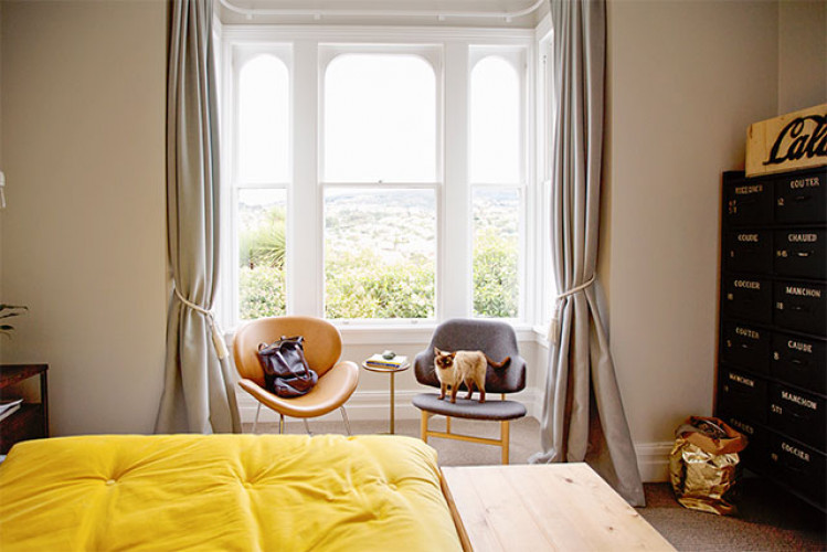 yellow and white bedroom, yellow duvet, yellow comforter, neutral bedroom, bedroom inspo, resene