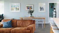 One living/dining room, three ways photo