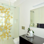 tiling, ensuite, white, bathroom, yellow