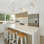 kitchen island, white, kitchen, cape cod, woodgrain, laminate