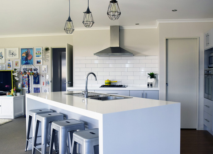 kitchen renovation, white paint, white kitchen, kitchen tiles, resene tea, kitchens
