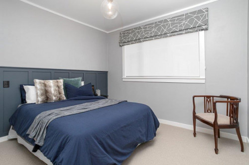 blue bedroom panelling