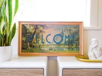 Elevate your entryway with this DIY welcome sign