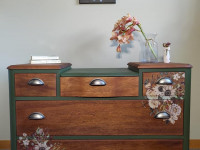 Kelly Dingle transforms tired furniture into works of art through her business Kelly's Road