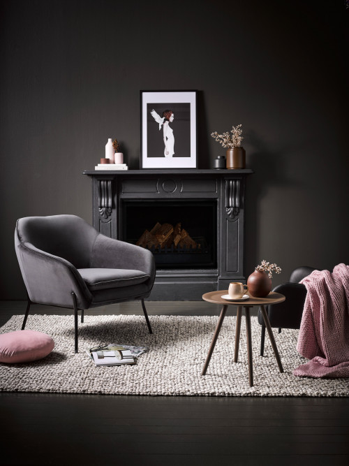 charcoal decor, decorating with charcoal, charcoal walls, darker paints, Resene