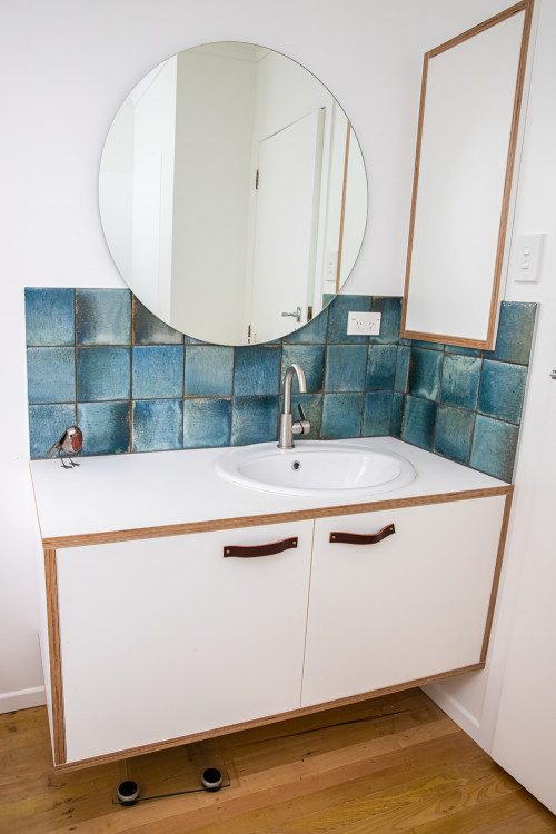 Blue Tiles, Bathroom Renovation, White Bathroom, Bathroom Update