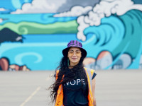 Miriama makes waves as part of a new Wellington beautification project