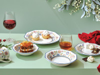 Deck your Christmas spread in terracotta and mint