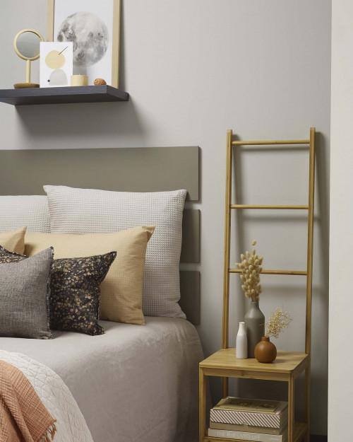 grey bedroom soft colours