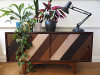 Create your own mid-century style sideboard with a range of wood stains