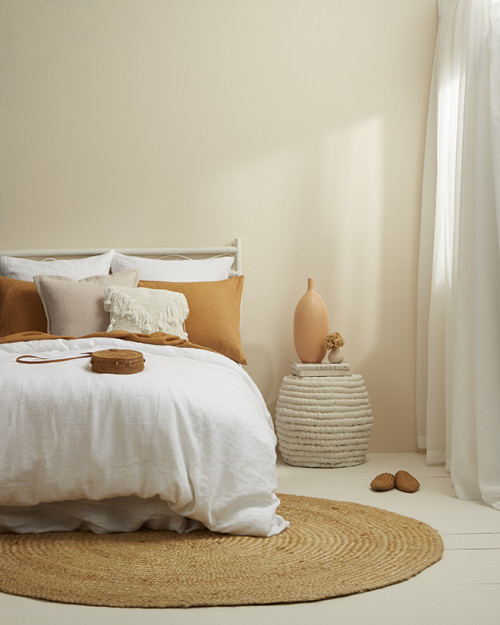 Neutral boho bedroom, Resene Canterbury Clay, Character Neutral, Neutral Bedroom
