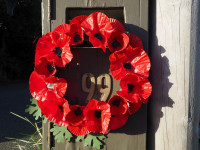 Create a colourful poppy wreath