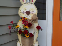 Create your own front door welcome bunny