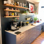 Eclectic Kitchen, Resene Double Foundry, Open Shelving, Pop Art, Kitchen Renovation
