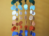 DIY colourful circle mobile