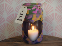 Show your mum some love with this creative candle jar