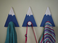 DIY mountain coat hooks
