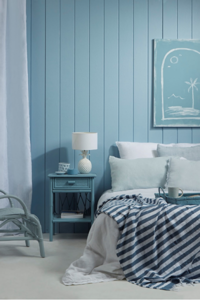 Going coastal:  How to create the laid-back beachy bach look using blues and whites
