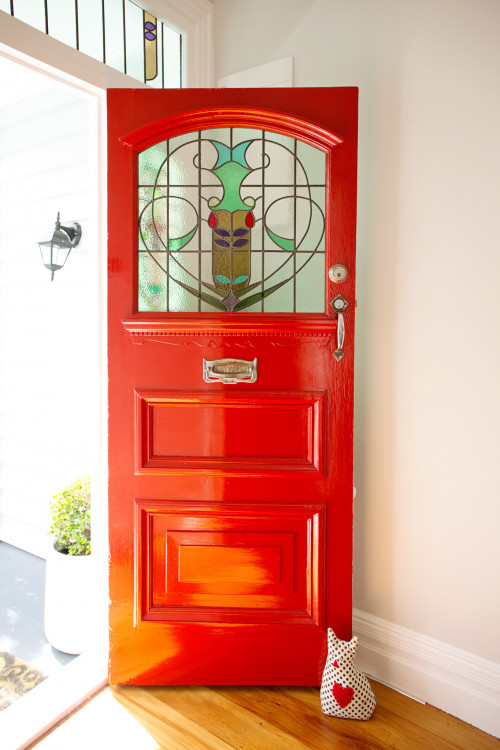 red door, statement door, red door inspiration, colourful front door inspo, colourful front door, red front door, Resene