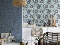 Hero blue with these dreamy wallpaper designs
