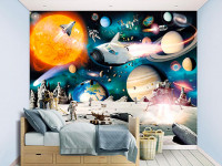 Transport your kid's room into a fantastical realm with these wall murals