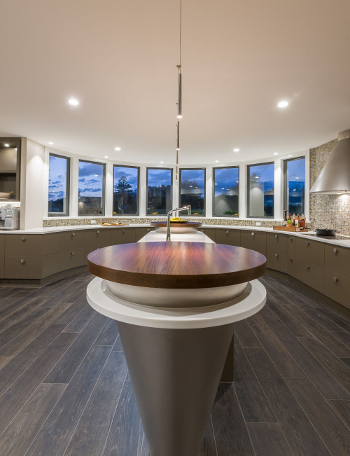 kitchen islands curved