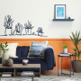 orange wainscotting wall mural