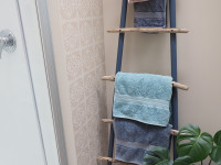 Bring beach vibes into your home with this DIY driftwood ladder